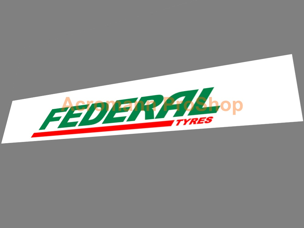 Federal Tyres Windshield Decal (Style#2)